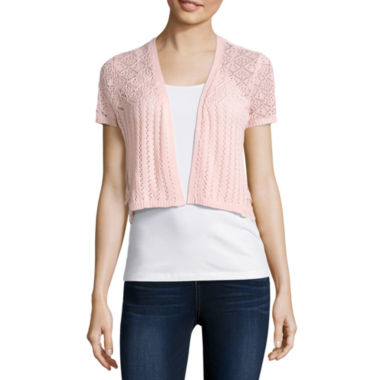 jcpenney.com | Almost Famous Short Sleeve Cardigan Juniors