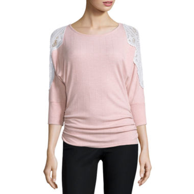 jcpenney.com | by&by 3/4 Sleeve Knit Blouse-Juniors
