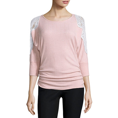by&by 3/4 Sleeve Knit Blouse-Juniors