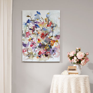 jcpenney.com | Madison Park Vibrant Garden  With Brush Gel Coat Canvas Art