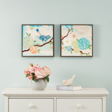 jcpenney.com | Intelligent Design Blooming Florals Deco Box 2-pc. Canvas Art