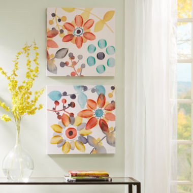 jcpenney.com | Intelligent Design Sweet Florals 2-pc. Canvas Art