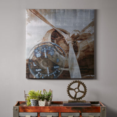 jcpenney.com | INK+IVY History Of Aviation Ii Mettallic Canvas Art