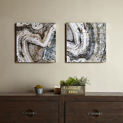 INK+IVY Cool Stone Glass Coat 2-pc. Canvas Art