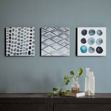 jcpenney.com | INK+IVY Monochrome Trio Printed Box Canvas Art