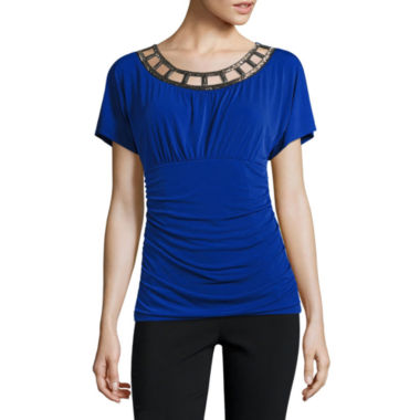 jcpenney.com | Alyx Short Sleeve Scoop Neck Blouse