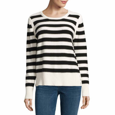 jcpenney.com | Liz Claiborne Long Sleeve Crew Neck Pullover Sweater
