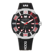 TechnoMarine® Reef Mens Red & Black Dial Strap Watch