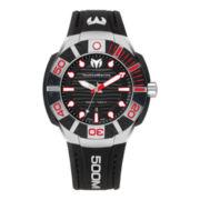 TechnoMarine® Reef Mens Red & Black Dial Strap Watch