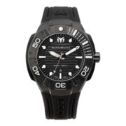 TechnoMarine® Reef Mens Black & White Dial Strap Watch