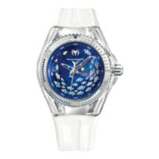 TechnoMarine® Cruise Aquarius Womens Blue Dial White Chronograph Watch