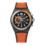 TechnoMarine® Cruise Locker Mens Orange Strap Chronograph Watch