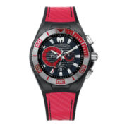 TechnoMarine® Cruise Locker Mens Red Strap Chronograph Watch