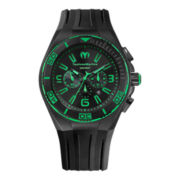 TechnoMarine® Cruise Night Vision Mens Green Dial Chronograph Watch