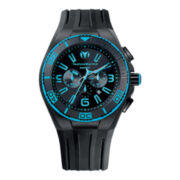 TechnoMarine® Cruise Night Vision Mens Blue Dial Chronograph Watch