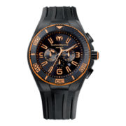 TechnoMarine® Cruise Night Vision Mens Orange Dial Chronograph Watch
