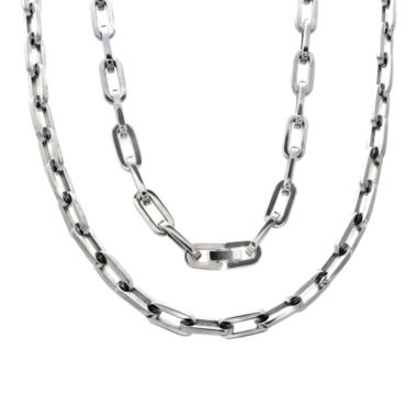 jcpenney.com | Mens Stainless Steel Oval Link  Chain and Bracelet Set