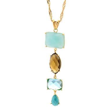 jcpenney.com | ATHRA Multicolor Stone Linear Pendant Necklace