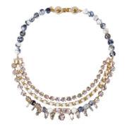 ZOË + SYD Genuine Fire Agate & Crystal Statement Necklace