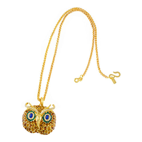 KJL by KENNETH JAY LANE Gold-Tone Owl Pendant Necklace