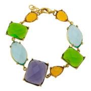 ATHRA Multicolor Resin Link Bracelet