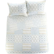 Christine Geometric Embroidered Quilt Set