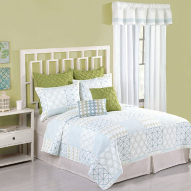 jcpenney.com | Christine Geometric Embroidered Quilt and Accessories