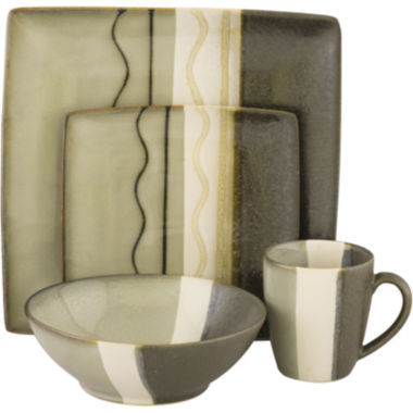 jcpenney.com | Sango Zanzibar 16-pc. Reactive Glaze Square Dinnerware Set