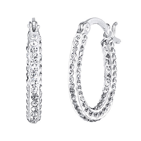 Crystal Sophistication™ Crystal-Accent Oval Hoop Earrings