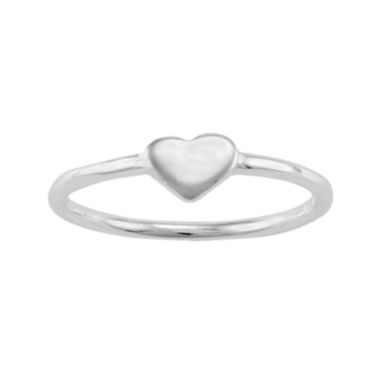 jcpenney.com | itsy bitsy™ Sterling Silver Polished Heart Pinky Ring