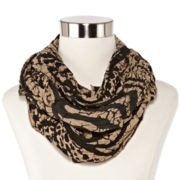 Pleated Branches Infinity Scarf
