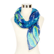 Tropical Leaf Scarf