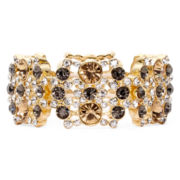 Monet® Multicolor Gold-Tone Stretch Bracelet