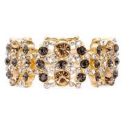 Monet® Multicolor Gold-Tone Stretch Bracelet
