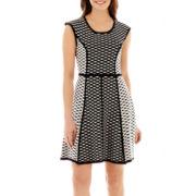 Studio 1® Sleeveless Twin Print Knit Dress
