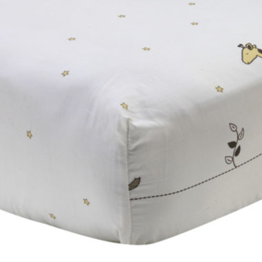 jcpenney.com | NoJo® Dreamy Nights Star and Animal-Print Fitted Crib Sheet