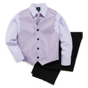Steve Harvey® 4-pc. Dress Shirt, Clip-On Tie, Vest and Pants Set – Boys 8-18