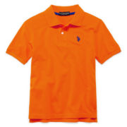U.S. Polo Assn.® Short-Sleeve Solid Polo – Boys 8-18