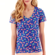 Arizona Short-Sleeve Print V-Neck Tee