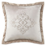 Royal Velvet® Battista Embroidered Square Decorative Pillow