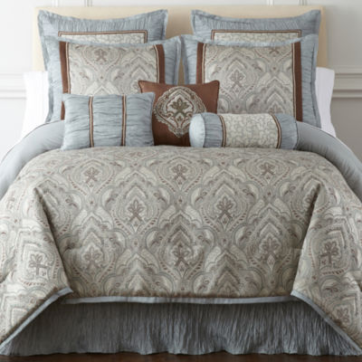 Home Expressions™ Augusta 7-pc. Jacquard Comforter Set