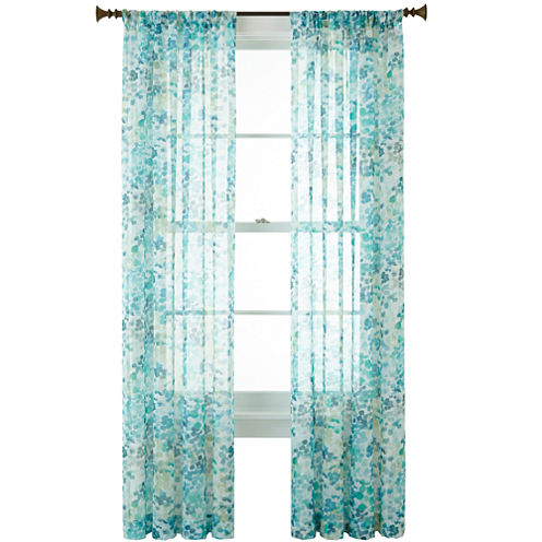 Liz Claiborne® Sabra Rod-Pocket Sheer Panel
