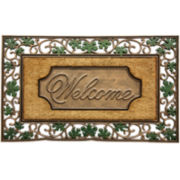 Bacova Leaf Scroll Welcome Doormat