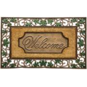 Bacova Leaf Scroll Welcome Doormat