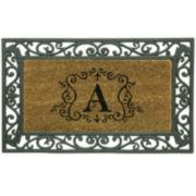 Bacova Framed Coir Monogram Doormat