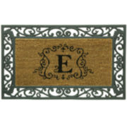 Bacova Framed Coir Monogram Doormat