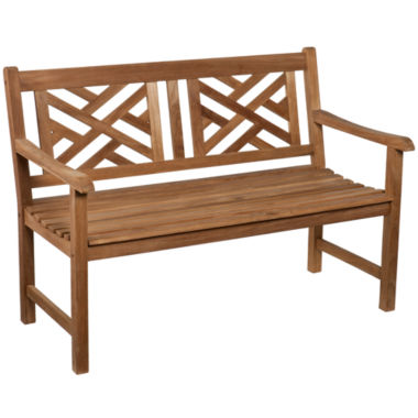 jcpenney.com | Teak Chippendale Outdoor Bench