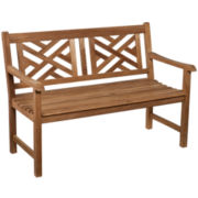 Teak Chippendale Outdoor Bench