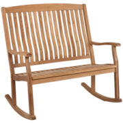 Teak Outdoor Double Rocker