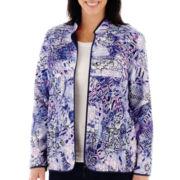 Alfred Dunner® Newport Pintuck Floral Jacket